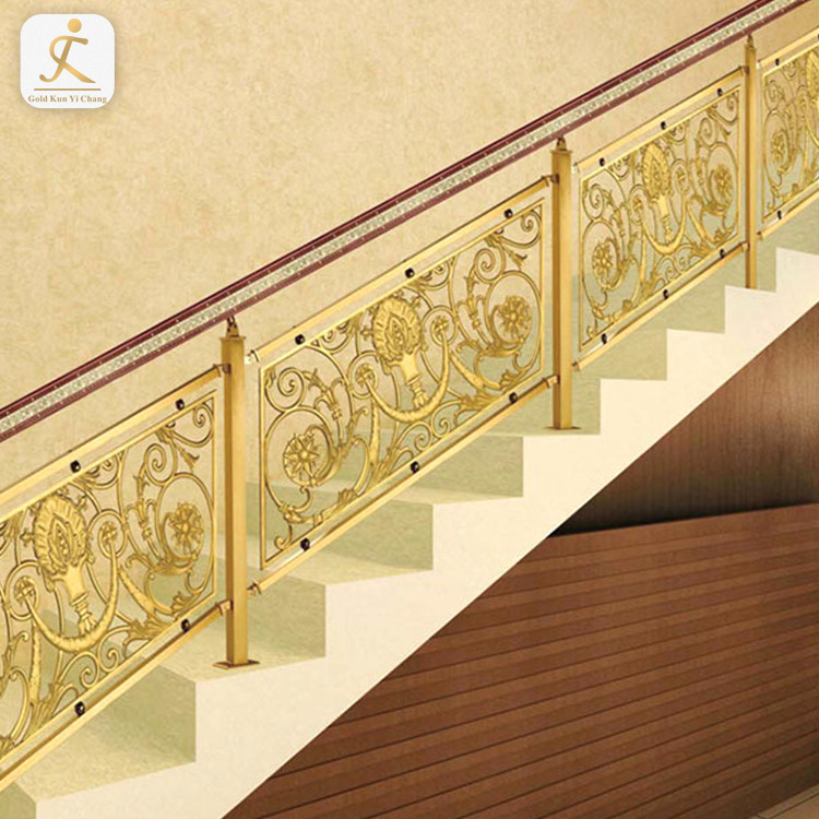 modular stainless steel railing room handrail golden stainless steel standard railing height tubular handrail for stairs