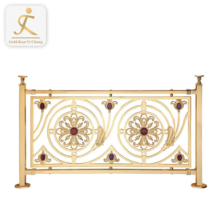 Decorative Interior Removable Handrail Custom Flexible Angle Stair Handrail Stainless Steel Metal Luxury Removable Handrail