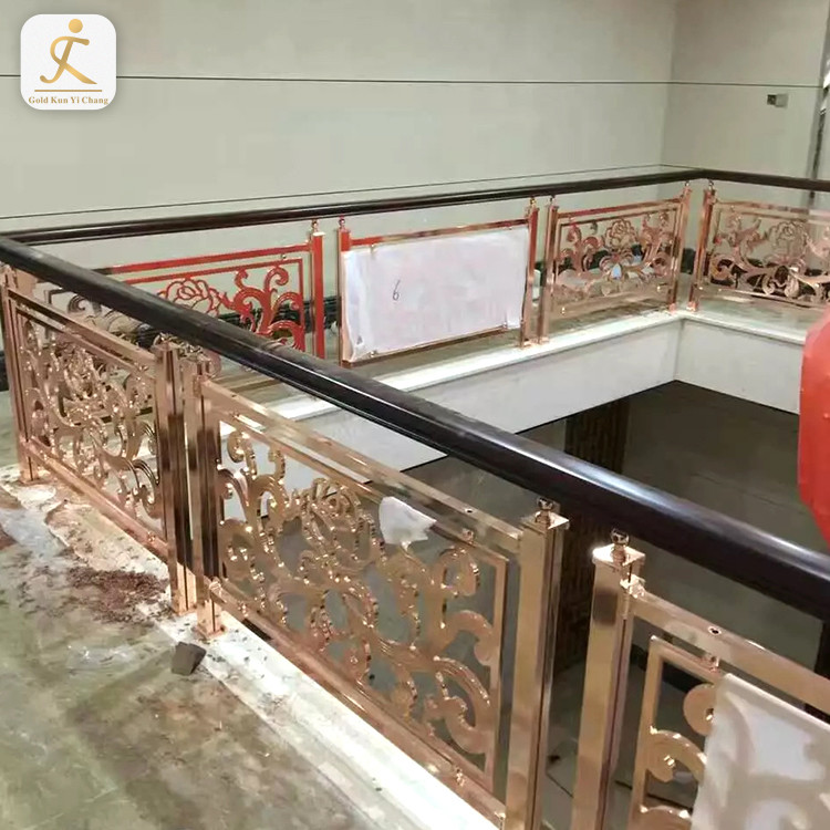 customized luxurious stainless steel hand rail guardrail for hotelvilaapartment