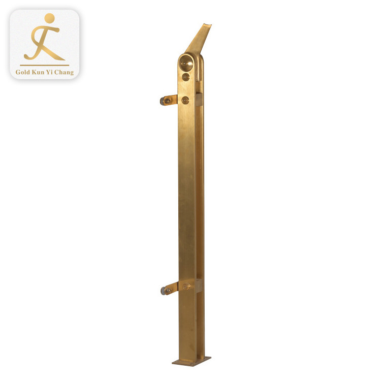 bronze golden 304stainless steel handrail design for stairs balcony guard rail post railing design outdoor in india