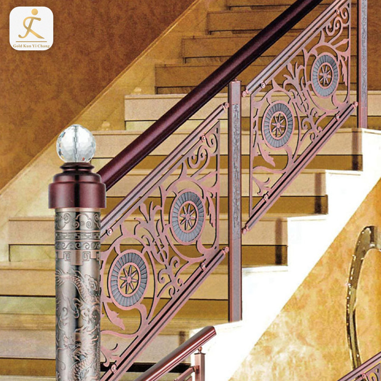 high end customization modern metal stair railing kits indoor villa residential metal stair railings