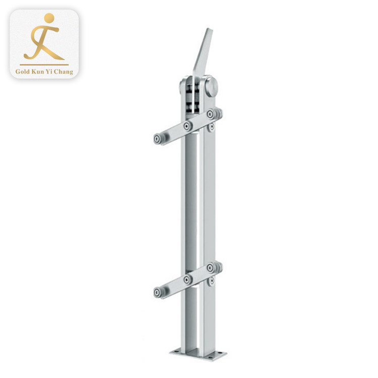 Dubai safety balcony stainless steel railings silver brushed simple design balcony railings outdoor