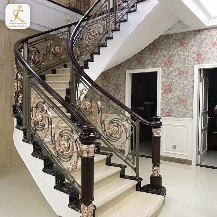 two storey villa house custom precast indoor 316 stainless steel balustrade duplex house composite inox railing