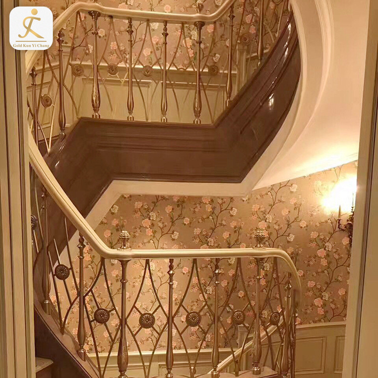 modern metal interior balcony railing design in india indoor home use staircase laser cut stainless steel balustrade