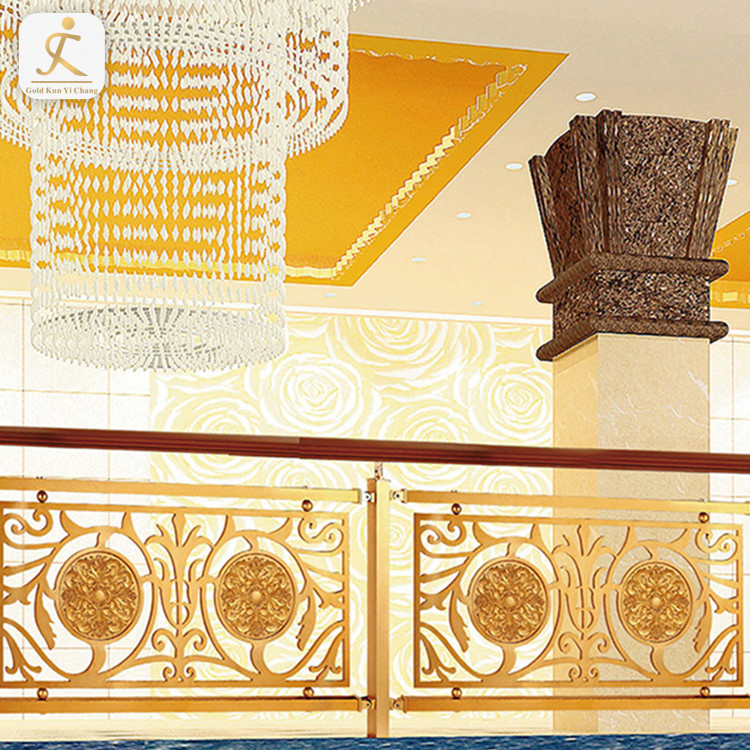 custom design metal gold balusters for deck stairs decorative stainless steel balusters for indoor stairs