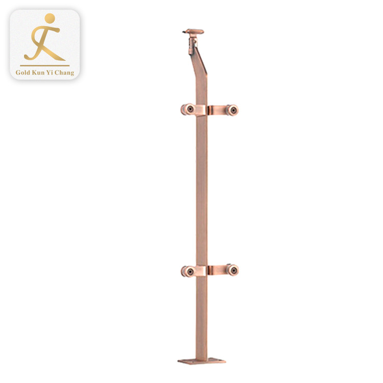durable metal stair handrail balusters for sale rose gold stair railing 304/316 stainless steel handrail design for stairs