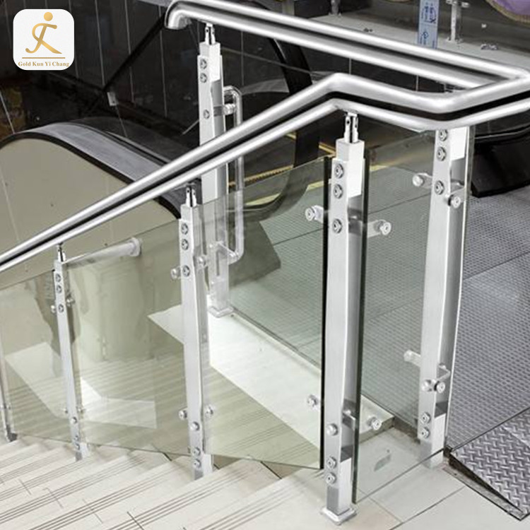 custom silver satin finish stair stainless steel railing column polished ss interior exterior stainless steel staircase railings