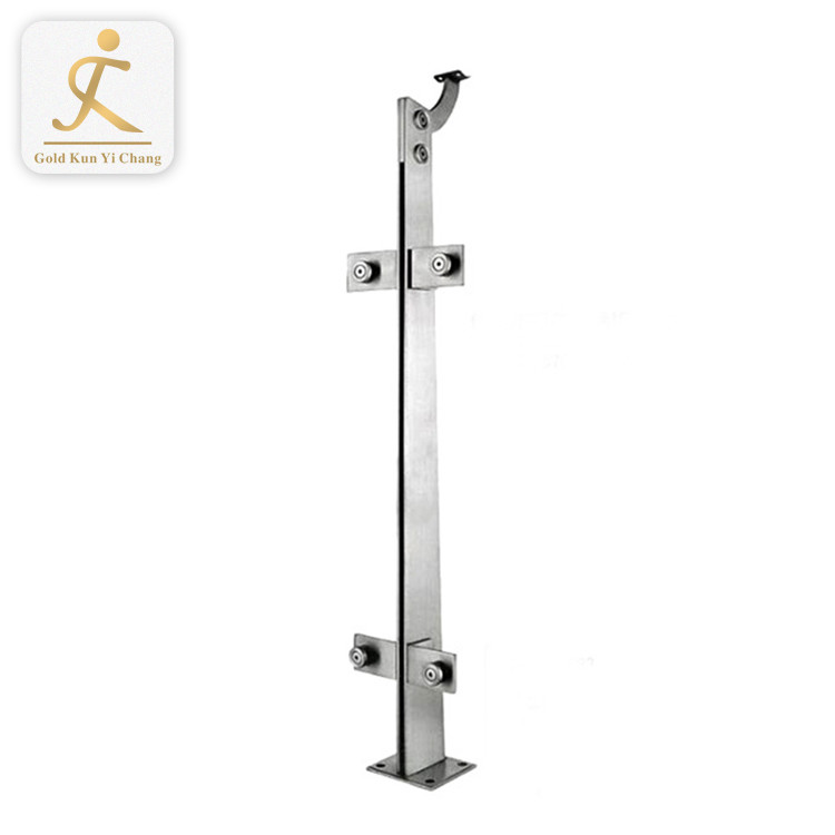 bespoke stainless steel outdoor patio railing posts with cable light metal deck railing silver color posts