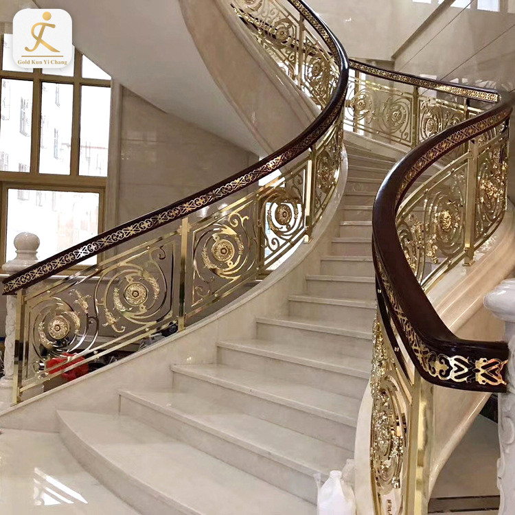 hotel building interior stair railings curved stainless steel stair handrail indoor curved modern stair railing kits