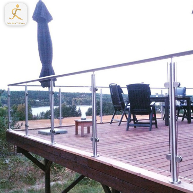 stainless steel and wooden rustic veranda porch railing posts silver glass or cable railing wood color post
