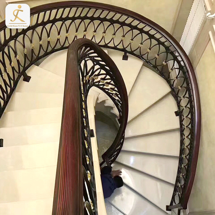 villa artful best home golden stainless stairs railing design interior 304/316 stainless steel handrail for stairs