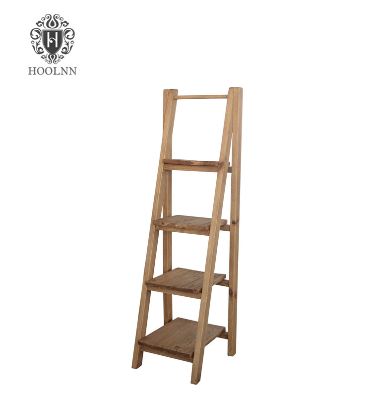 Vanda Recycled Wooden New Design Ladder Bookshelf HL240