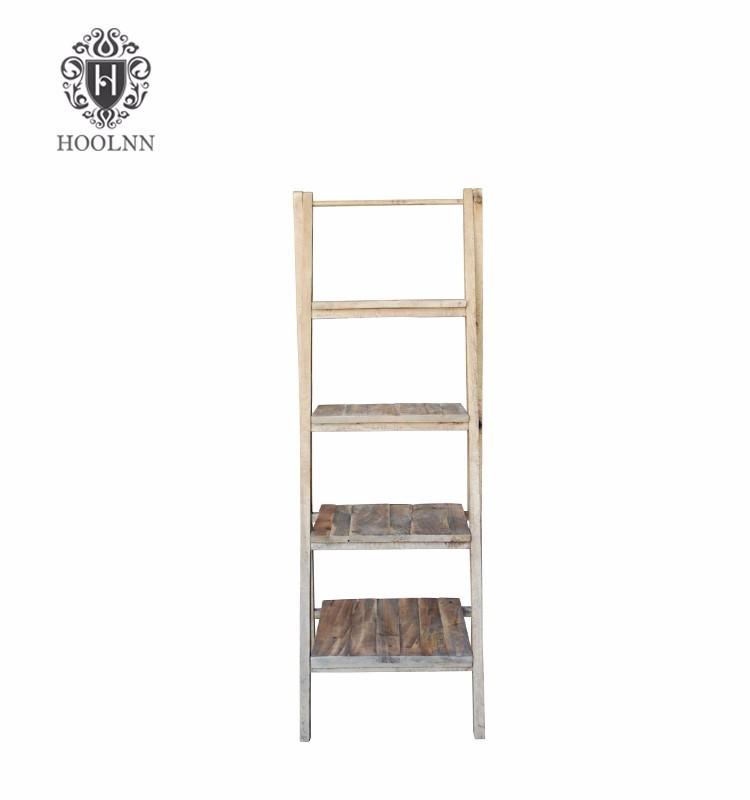 Ladder Recycled Wooden New Design 2015 Bookshelf HL240-160