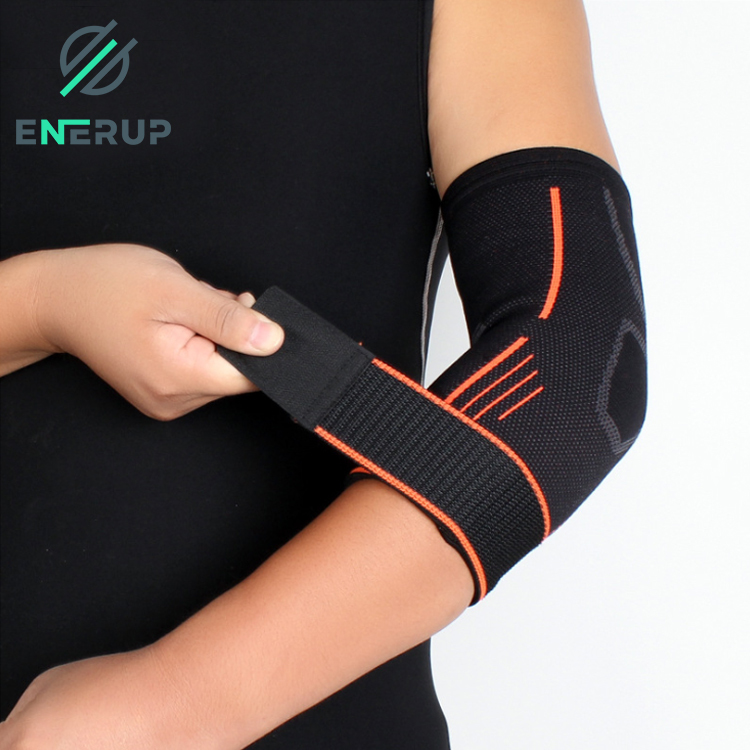 Enerup Elastic Basketball Protective Compression Tennis Elbow Brace Support Arm Sleeve Custom with Ajustable Strap
