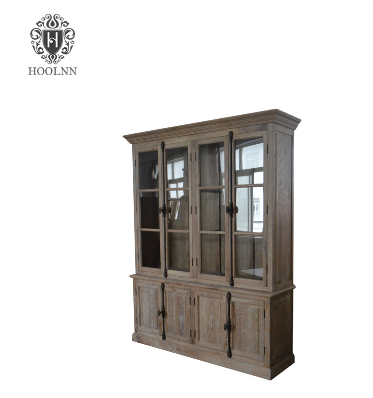 French style furniture Recycled Reclaimed distressed wood glazed cabinet W5875
