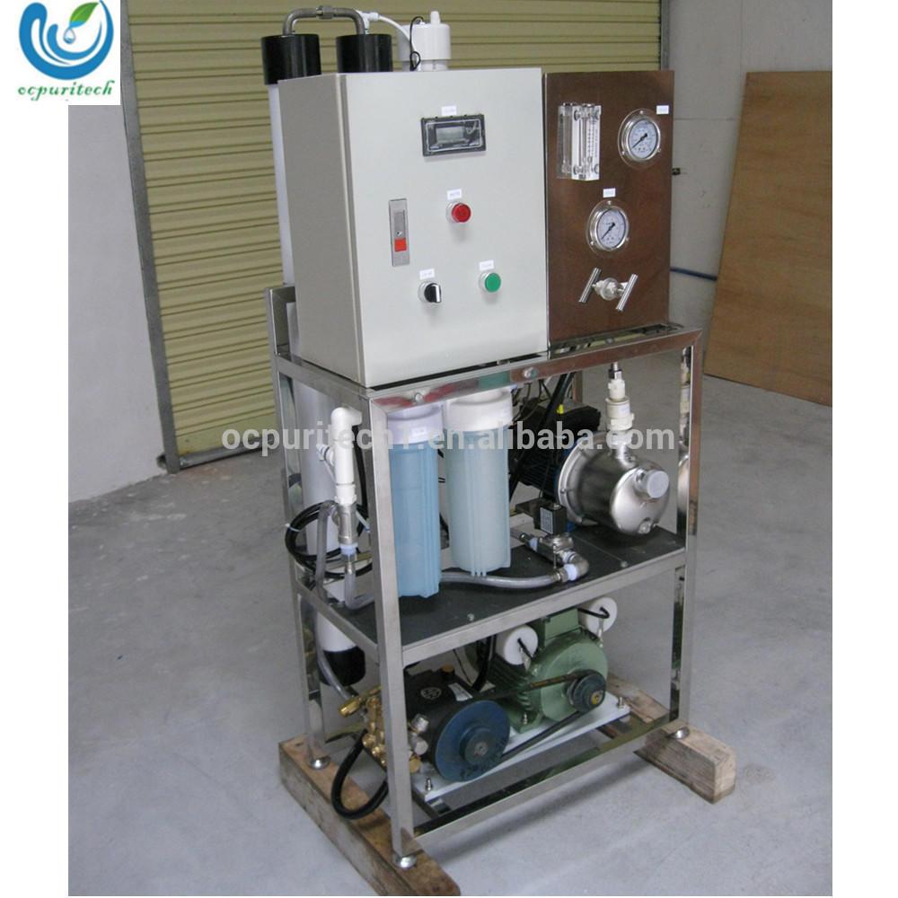 Portable mobile 1000LPD reverse osmosis Sea Water Desalinator desalination plant cost