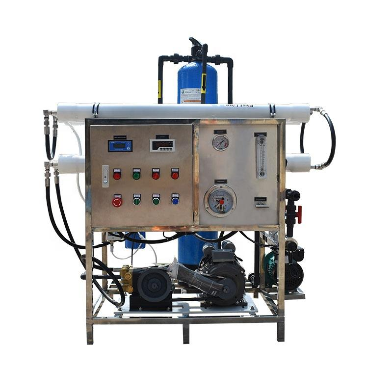 Guangzhou 200lph industrial seawater desalinationg salt water to drinking water machine