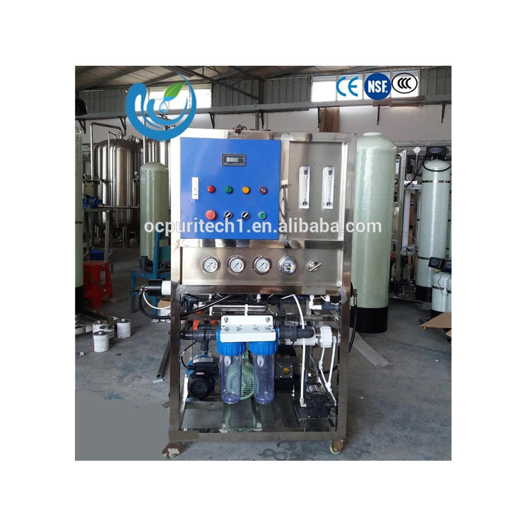 1000Lpd portable double seawater treatment RO equipment