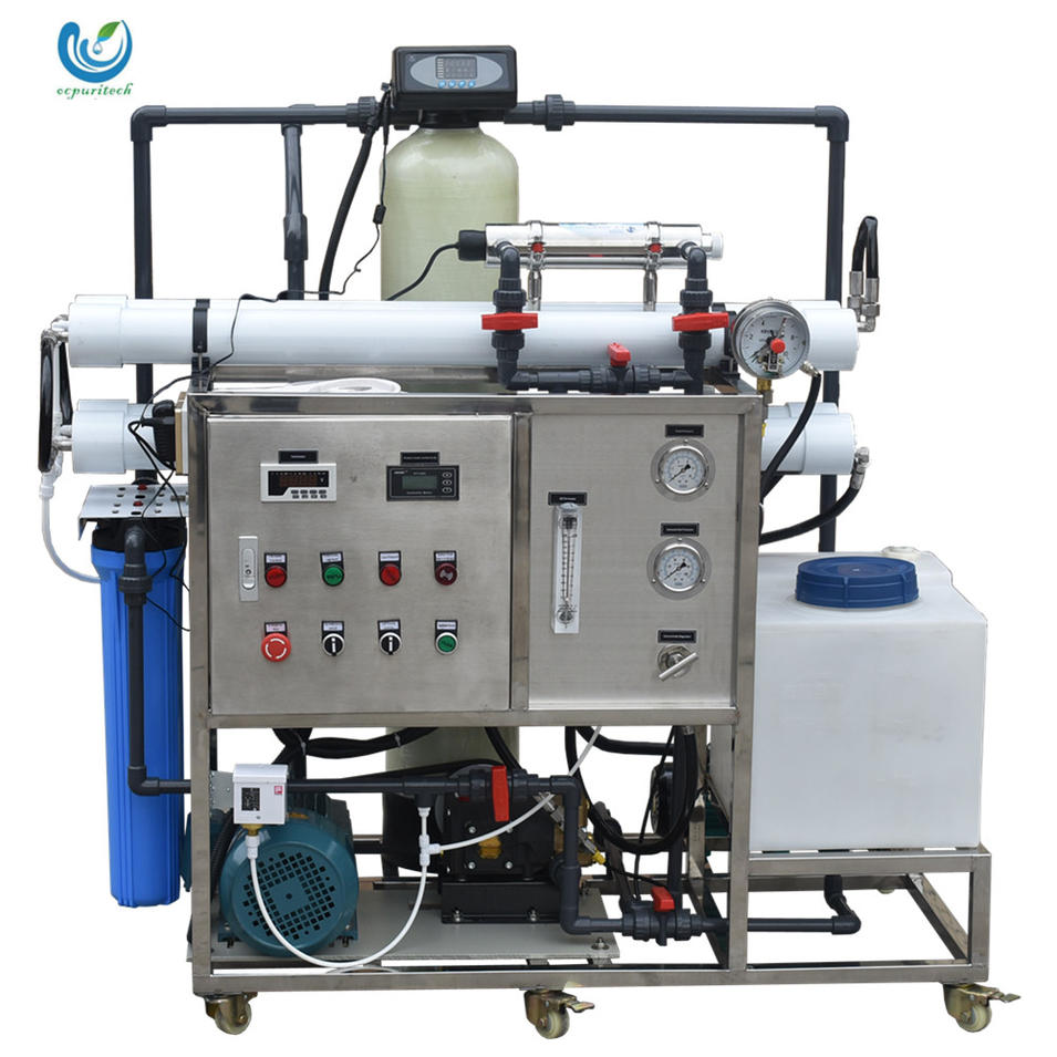 200lphDesalinator Brackish Seawater Sea Water Desalination Machine Ro Reverse Osmosis Industrial Marine Systems For Boats
