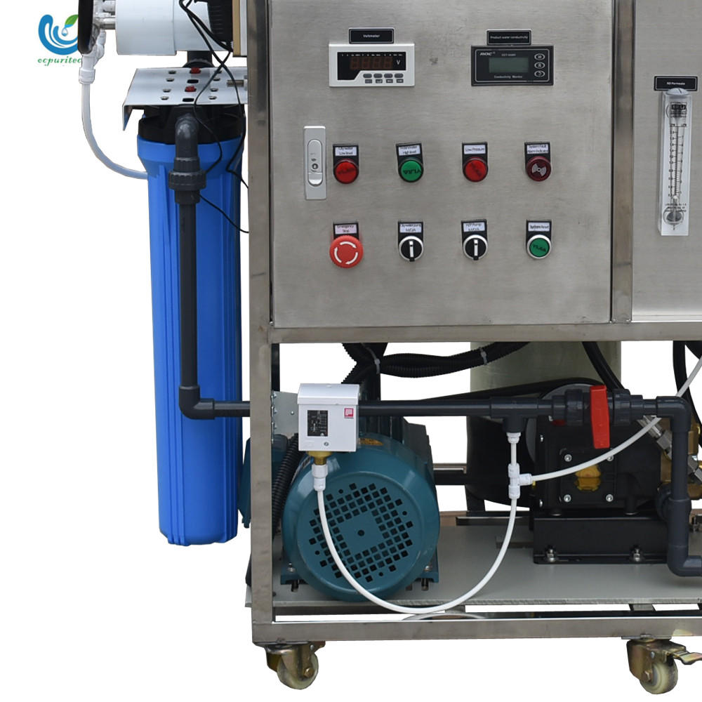 5TPD desalination of seawater reverse osmosisx equipment with multi-media filter