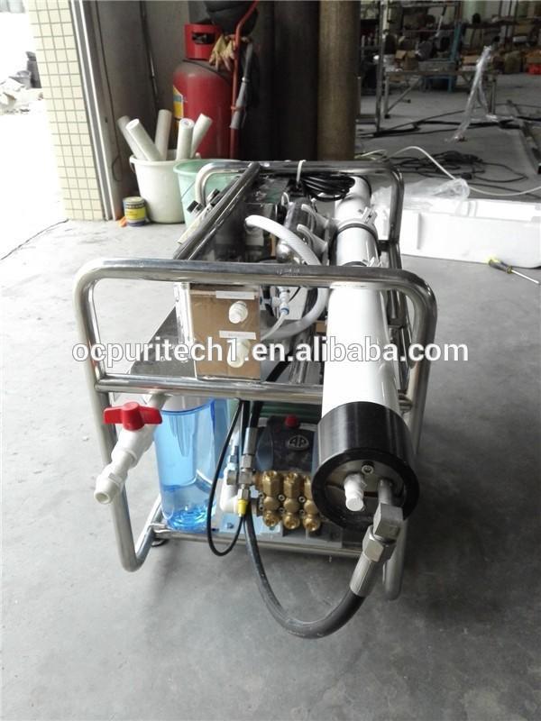 mobile 1000lpd sea water treatment plant/water treatment plants
