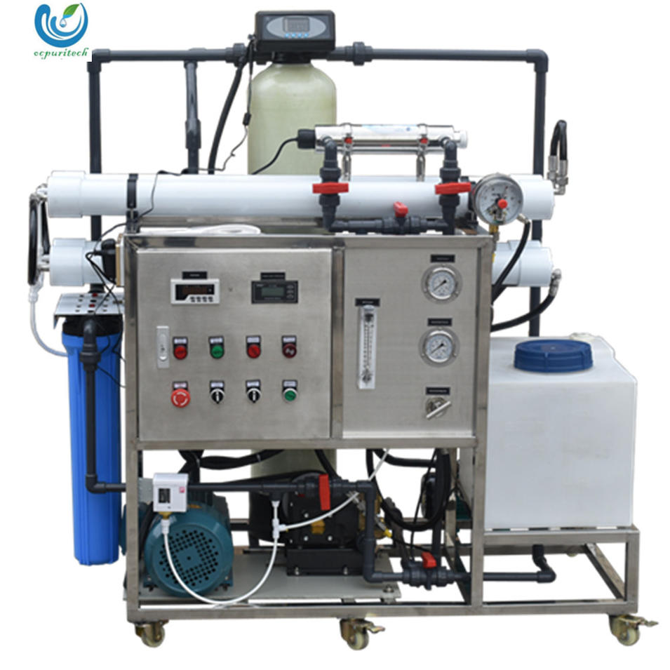 5TPD Small RO seawater desalination plant for boat / yacht / marine