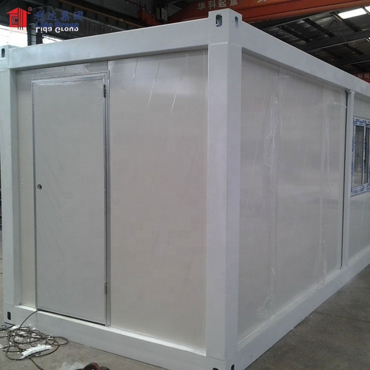 China flat pack container house with bathroom, insulated container house