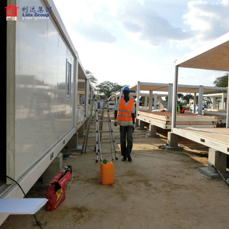 Indonesia modular flat pack contain hous