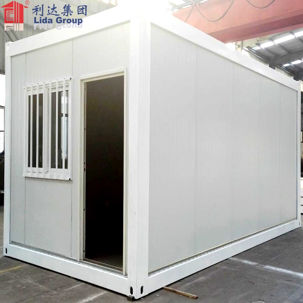 prefabricated 20 feet flat pack habitable container house with bathroom