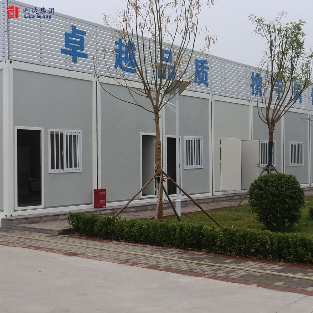 Chad Low Cost Prefabricated House Design 40ft Flat Pack Container