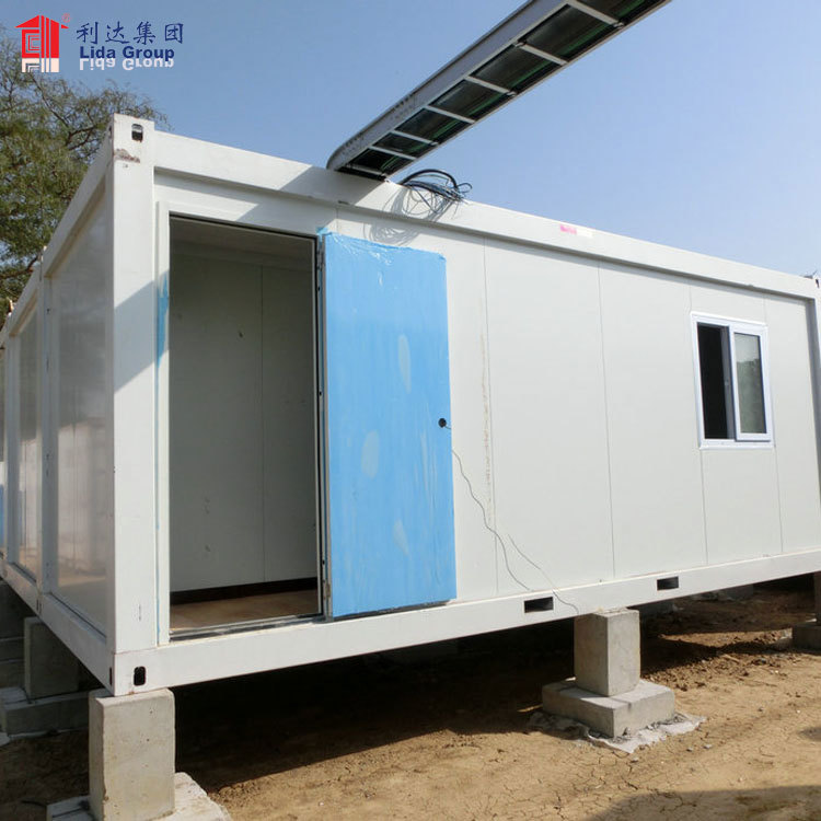 40ft 20ft sandwich panel light steel prebuilt container prices prefab portable container house/dormotory