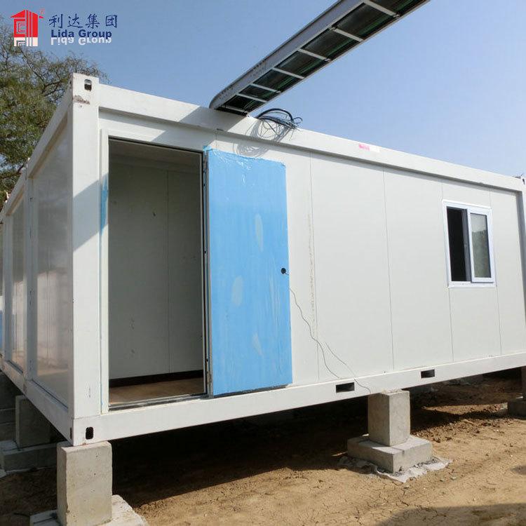 40ft 20ft sandwich panel light steel prebuilt container prices prefab portable container house/dormotory