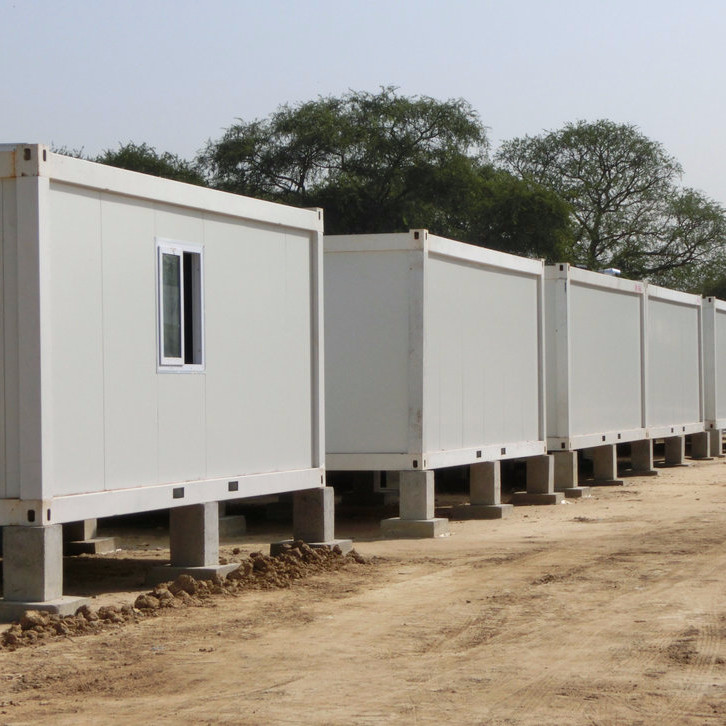 Flat pack container house camp in South Sudan for the UN