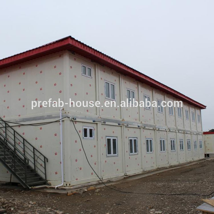 Three Floor Government Office Project Prefab Flat Pack Modular Container House Cabin