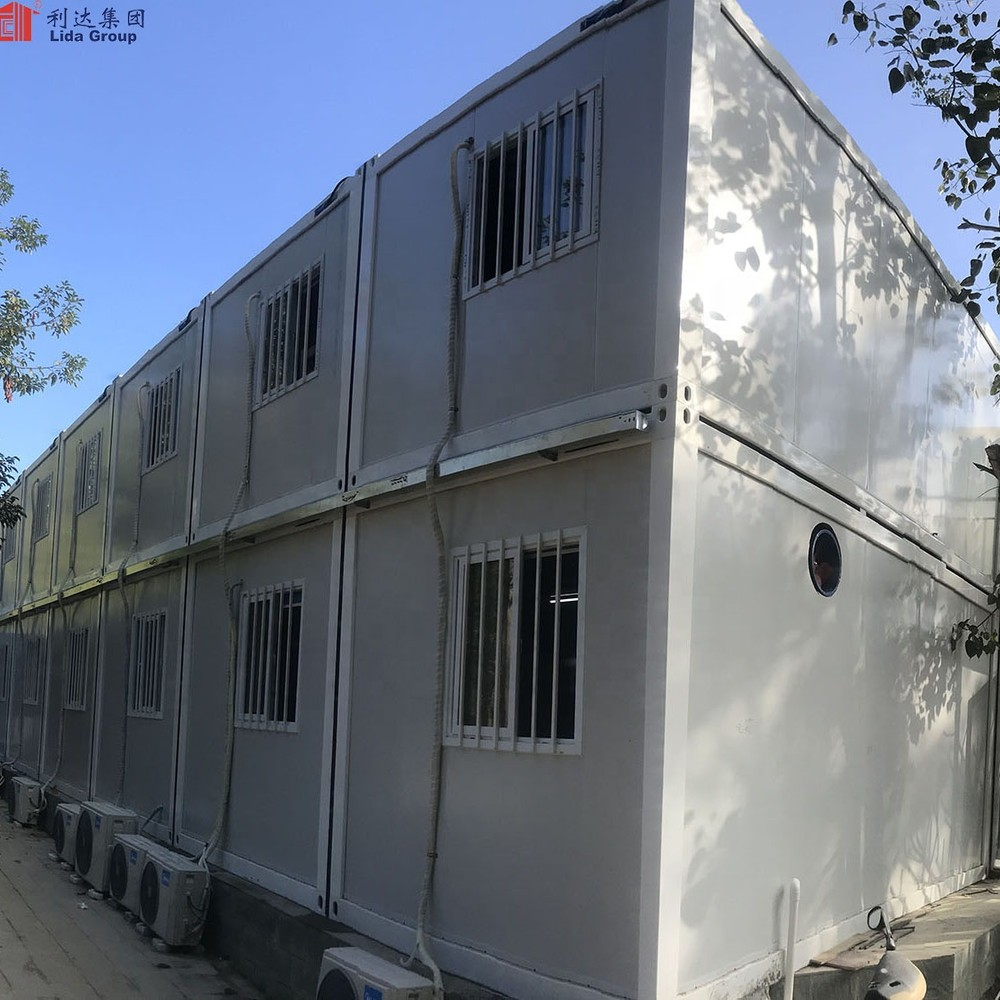 Ghana Low Cost Prefabricated House Design 40ft Flat Pack Container