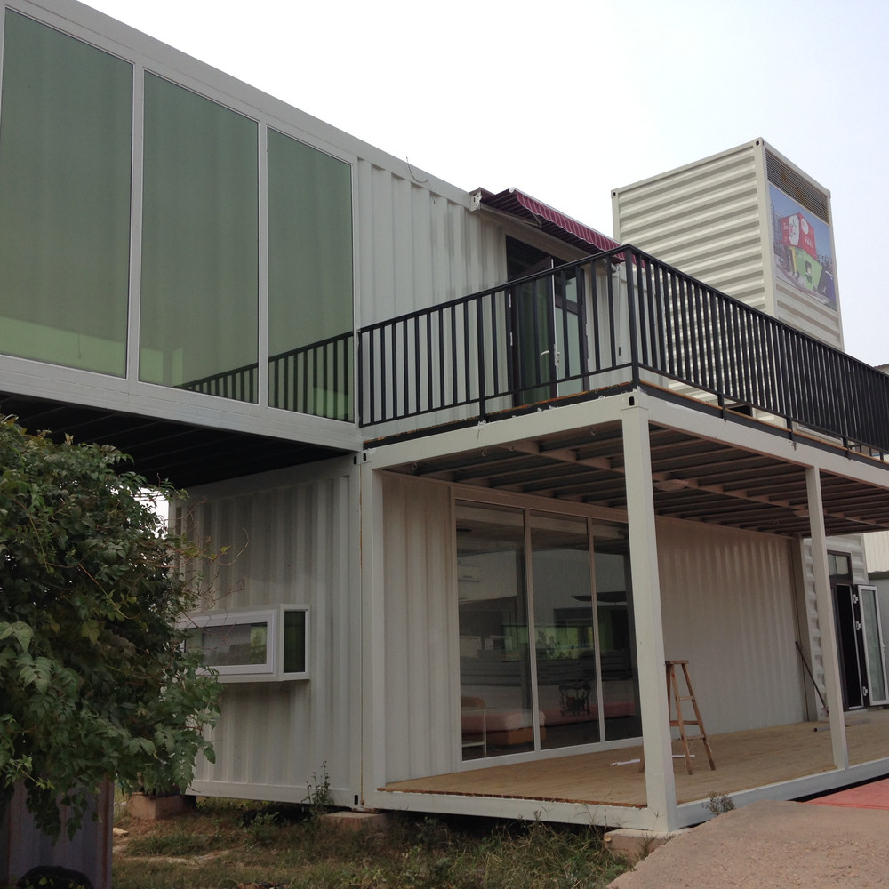 Hotel Use and Sandwich Panel Material Modular Container House