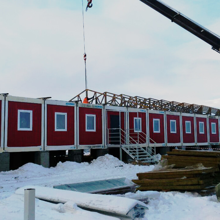 porta cabin container house building workforce camp