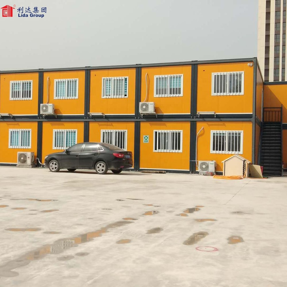 Angola Low Cost Prefabricated House Design 40ft Flat Pack Container
