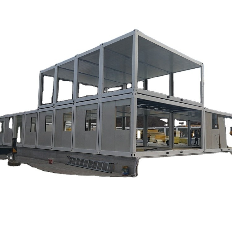 Multifunctional Prefabricated Flat Pack Container Camp House for Sale