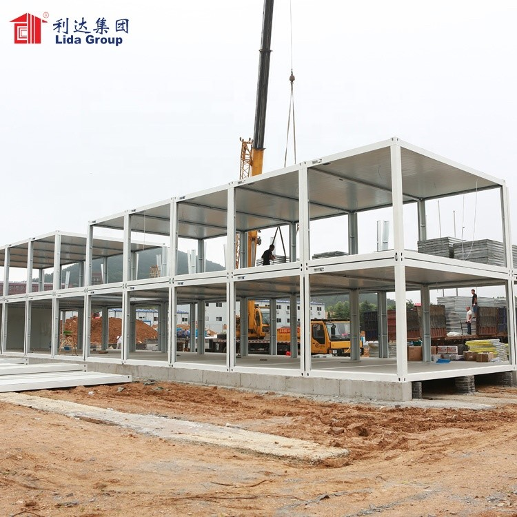 Construction prefabricated container house, demountable container house dormitory