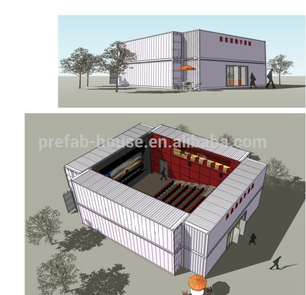 40ft prefabricated container movie theatre