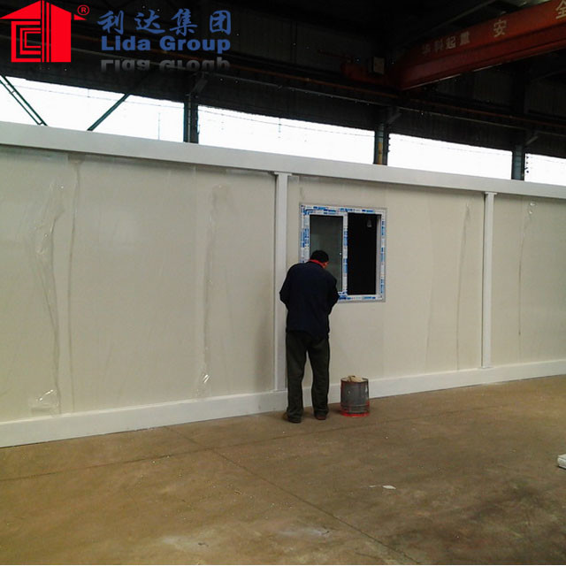 Flat pack prefabricated 40ft container house for office/toilet/camp