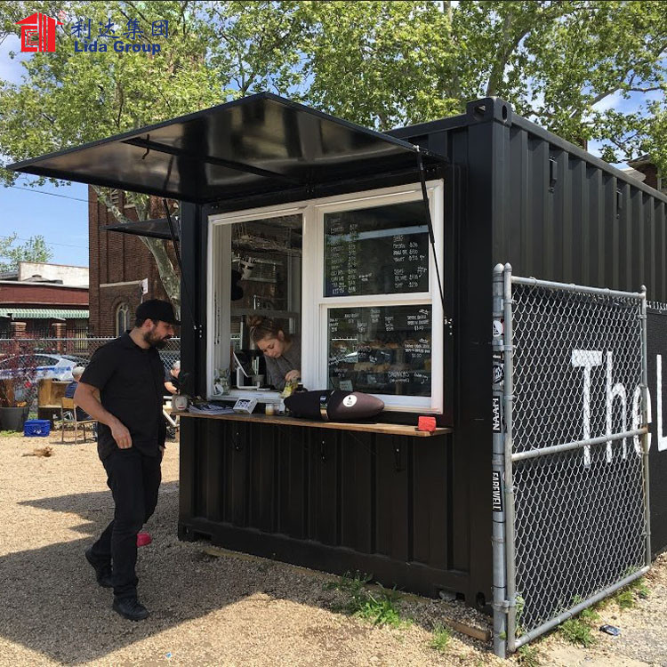 Italy container house, shipping container house for sale, coffee shop container