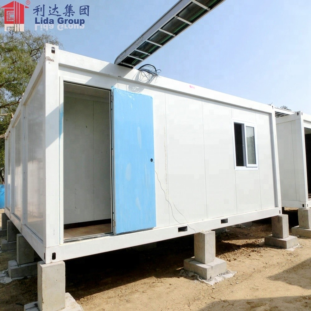 Cheap Mauritius 40 sq meter Container Office House Modular design include Burglar windows