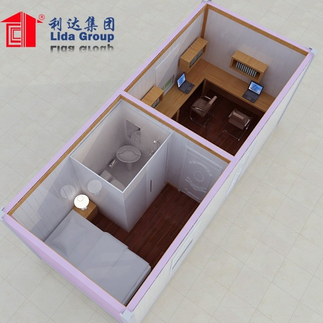 Collapsible 20ft living container house with one bedroom