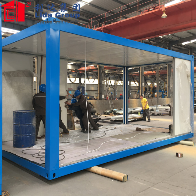 Prefab 20ft flat pack container homeshouse for Philippines
