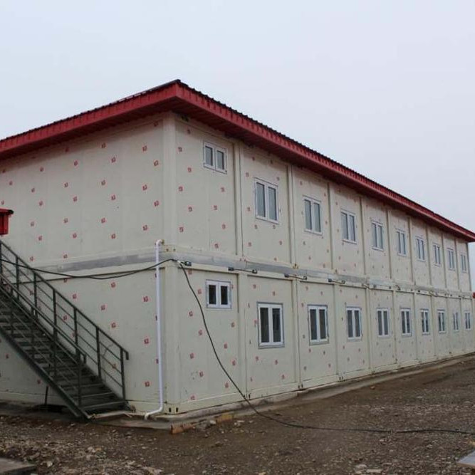 Two-storey turnkey container house modular camp