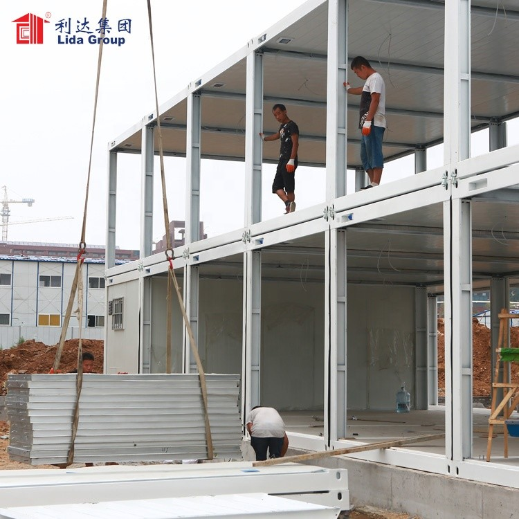 Flat packed living container house, modular assembly house, two storey modular house