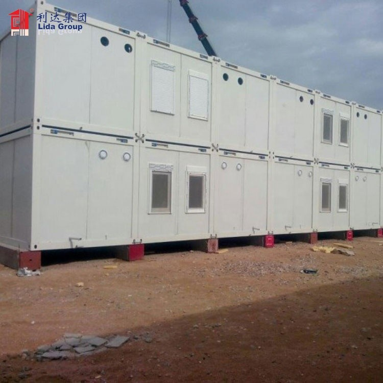 container house luxury prefabricated flat pack container house 2-story container