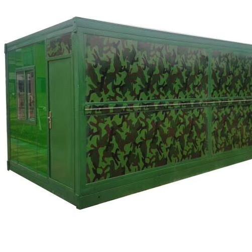 Portable folding cabins sandwich panel 20ft prefab folding container house